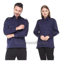 Baju PDL Biru Dongker Navy / Kemeja PDH / Baju PNS / Baju Lapangan
