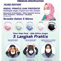 Ateja Masker Hijab Version 3 ply Headloop non medis premium quality