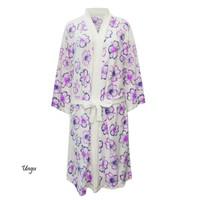 Handuk kimono dewasa handuk baju handuk berenang motif kembang dewasa