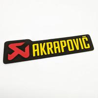 Sticker Akrapovic Merek Knalpot Motor Sport Motogp Memanjang