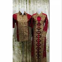songket batik Palembang model gamis love