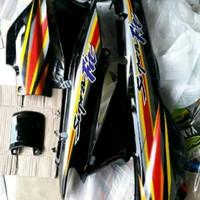 Cover body samping supra fit lama kanan kiri bonus striping