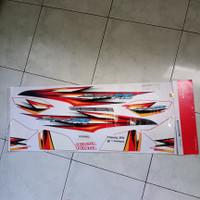 lis body striping stiker supra fit new 2006 merah putih Tromol ori AHM