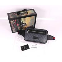 GUCCI GG Supreme Logo Waistbag 100% Original Black Market