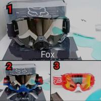 Kacamata Google Cross Fox- Kacamata Motor Cross Google Fox air 2 Lensa