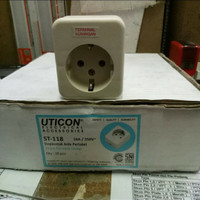 UTICON Colokan 1Soket ST118 stop kontak stopkontak terminal