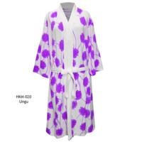 Handuk kimono dewasa handuk baju handuk berenang motif bunga chrysant
