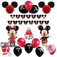 Paket Dekorasi Balon Ulang Tahun / Happy Birthday Mickey Mouse 02