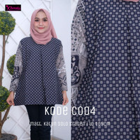 Baju Batik Wanita Modern Elegan Murah Lengan Panjang Katun Solo