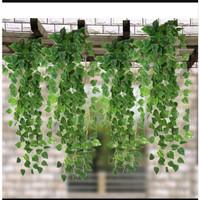 Daun Rambat Plastik Imitasi Sirih Gading Ivy Semangka Artificial 50