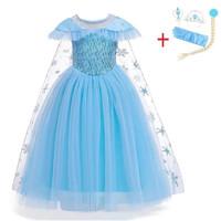 baju pesta ulang tahun anak Frozen set aksesoris frozen 4 in 1