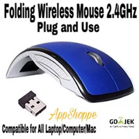 MOUSE WIRELESS ARC FOLDING USB 2.4Ghz BLUE