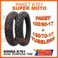 KENDA K761 PAKET 100/80-17+130/70-17 BAN DUAL PURPOSE BAN SUPER MOTO