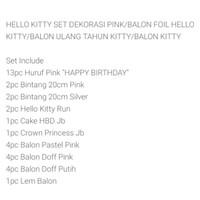 Stock terbatas Paket set dekorasi ulang tahun tema hello kitty Murah