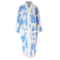 Handuk kimono dewasa handuk baju handuk berenang motif daun pakis