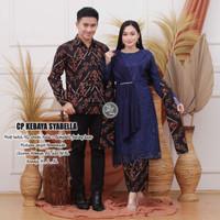 Batik Couple Kebaya Atasan Wanita Brokat Tile Keluarga Muslim Modern