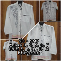 Baju Koko Anak Tanggung Size 14 15 16 Kelas SD SMP Khitanan