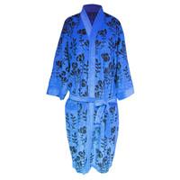 Handuk kimono dewasa handuk baju dewasa handuk berenang bunga mawar