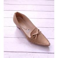 PRODUK LOKAL- RH 47- Sepatu Pantofel Kantor Wanita [Hak Tahu/Chunky] - Mocca, 38