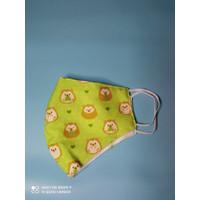 Masker Kain Earloop - Baby Porcupine Green
