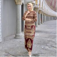 couple kurung songket batik Palembang wayang maron