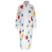 Handuk kimono dewasa handuk baju dewasa handuk berenang bunga tulip
