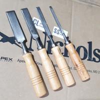 pahat kayu set 4bh tatah 4pcs ( 1/4 , 1/2 , 3/4 & 1 )