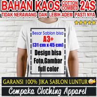 Jasa Sablon Kaos / Baju Satuan Digital Print dengan design suka-suka