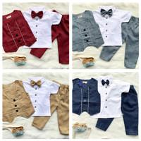 baby tuxedo set tuxedo bayi baju kondangan single vest