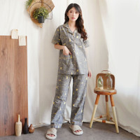 Piyama Katun Jepang GREET model : K-305 / PPK