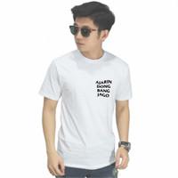Kaos AJARIN BANG JAGO Kaos Distro Pria / Tshirt Pria / Tshirt Wanita - Putih, S