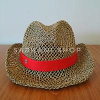 Topi Ben Filosofi Kopi / Topi Fedora Anyaman / Topi Bambu