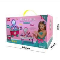 mainan make up 2 in 1 happy girl(bisa jadi meja rias dan trolly)