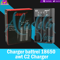 AUTHENTIC AWT C2 2A USB battery charger 18650 battery portable Vapor