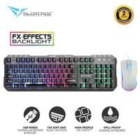 Satu paket keyboard alcatroz xkb 300 gaming dan mouse asic 9 pro rgb