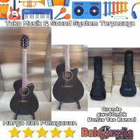 Gitar Akustik Grande GWC 40MBK GWC40BK Ori Bonus Tas