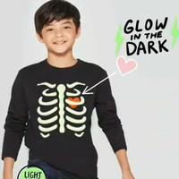 Baju anak kaos glow in the dark branded Cat&Jack 6-16 T