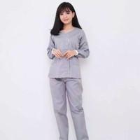 Baju Seragam Suster Lengan Panjang Zoe Grey / Baju Seragam Baby Sitter