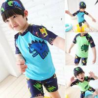 Baju Renang Import Set Celana Topi Anak 2 -13 Tahun Boy Swimsuit Laki