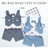 baju pesta fashion setelan rompi tuxedo dasi wolf1 anak bayi laki laki