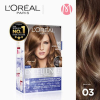 Loreal Excellence Fashion Ultra Lights 03 Ash Brown Cat Rambut Loreal
