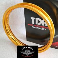 VELG TDR W SHAPE UKURAN 215 x 17 GOLD EMAS RING 17