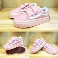 Vans oldskol peach sneaker sepatu anak perempuan import quality