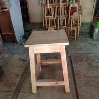 Bangku A kotak bahan kayu jati belanda