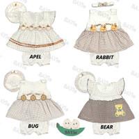 Setelan Baju bayi Perempuan MOM'S GIFT 100% Katun SNI usia 0-6 bulan