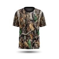 Kaos Jersey Camo / Kamuflase Berburu Hunting Loreng Realtree Pendek 03 - S