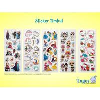 Stiker Timbul kartun Anak sticker timbul puff lucu karakter disney BTS