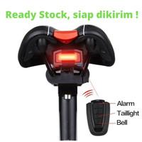 Lampu rem sepeda Anti-Maling + Remote Alarm (+ Klakson )