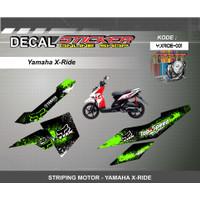 DEKAL STIKER MOTOR YAMAHA X-RIDE STRIPING MOTIF RACING 01-05