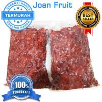 GROSIR TERMURAH 1kg Raspberry Premium Frozen Buah Beku Rasp berry